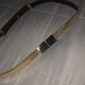 Tory Burch gold belt